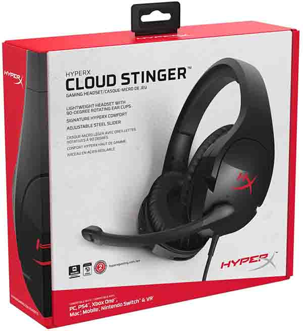 #1 selling PC gaming headset in the U.S HyperX Cloud Stinger